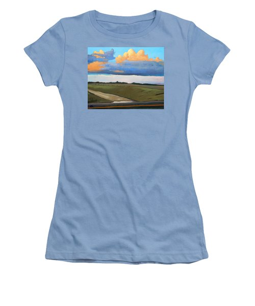 Women's T-Shirt (Junior Cut) featuring the painting After Shower by Gary Coleman