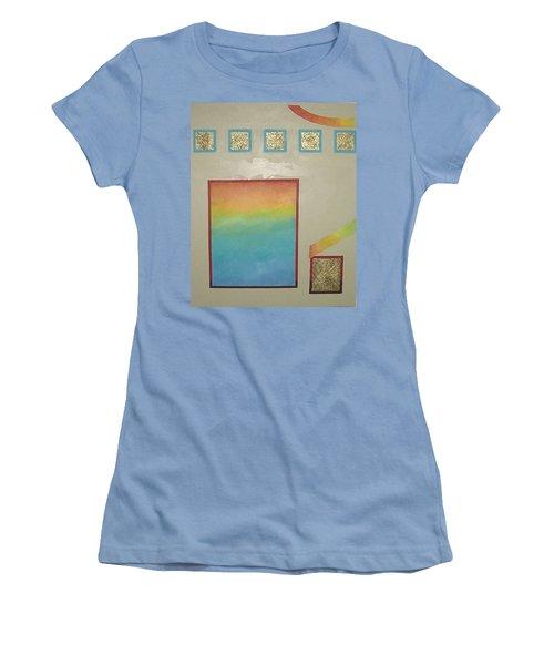 Women's T-Shirt (Junior Cut) featuring the painting After The Rain by Bernard Goodman