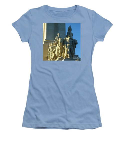 Women's T-Shirt (Athletic Fit) featuring the photograph Agriculture Allegorie Monument To The Constitution Of 1812 Cadiz Spain by Pablo Avanzini