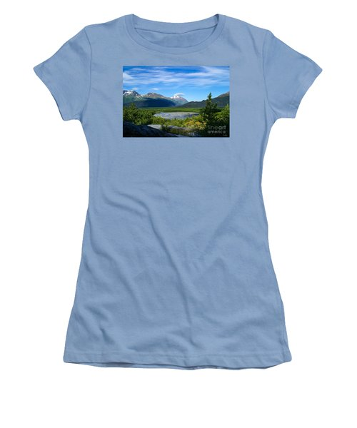 Alaska's Exit Glacier Valley Women's T-Shirt (Athletic Fit)
