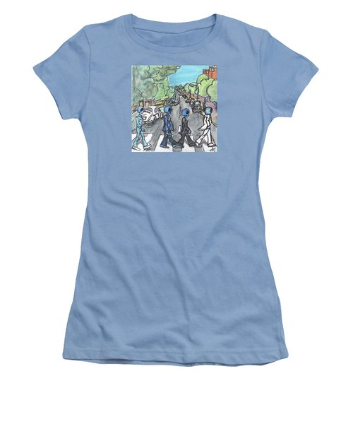 Women's T-Shirt (Junior Cut) featuring the painting Alien Road by Similar Alien