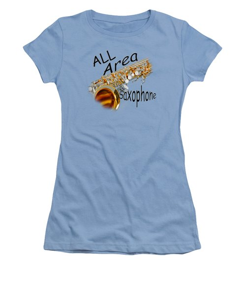 All Area Saxophone Women's T-Shirt (Athletic Fit)
