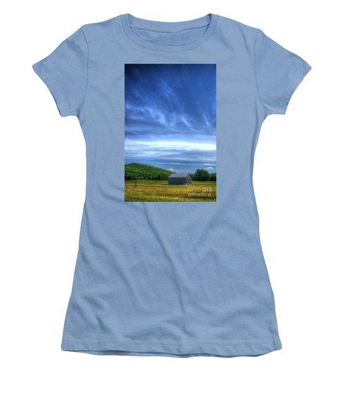 Women's T-Shirt (Junior Cut) featuring the photograph  Alone by Randy Pollard