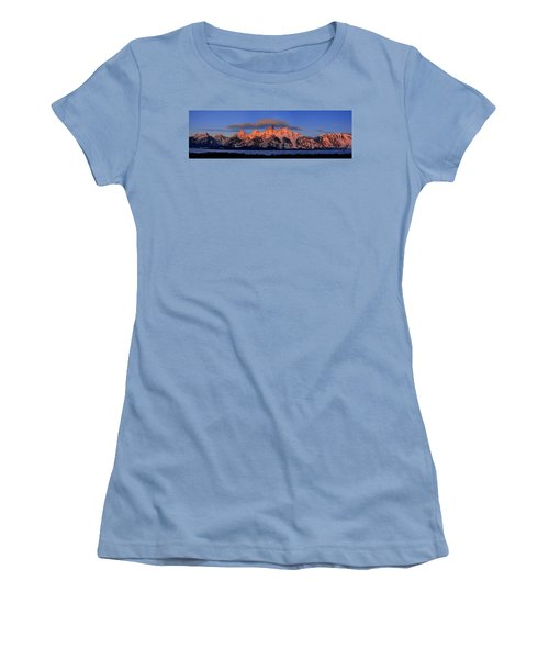Alpenglow Tetons 2 Women's T-Shirt (Athletic Fit)