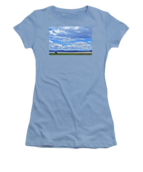 Women's T-Shirt (Junior Cut) featuring the photograph Sky Over Alvord Playa by Michele Penner