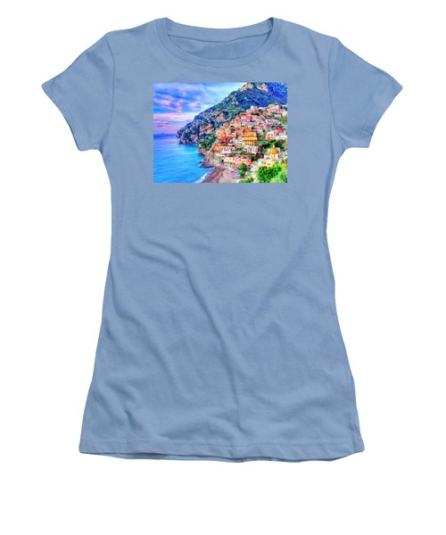 Amalfi Coast At Positano Women's T-Shirt (Athletic Fit)