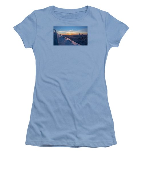 an evening on the Achtermann, Harz Women's T-Shirt (Junior Cut) by Andreas Levi