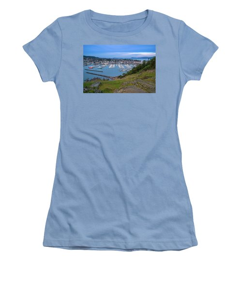 Anacortes Peaceful Morning Women's T-Shirt (Junior Cut) by Ken Stanback