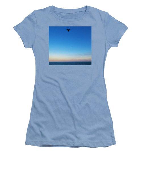 Angel Bird Women's T-Shirt (Junior Cut) by Kathy Long