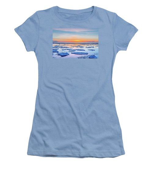 April Sunset Over Lake Superior Women's T-Shirt (Athletic Fit)