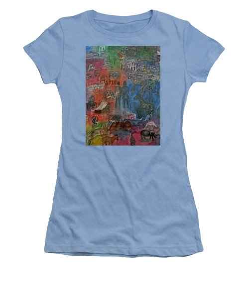 Around The World Women's T-Shirt (Athletic Fit)