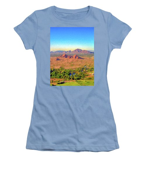Arriving In Phoenix Digital Watercolor Women's T-Shirt (Athletic Fit)