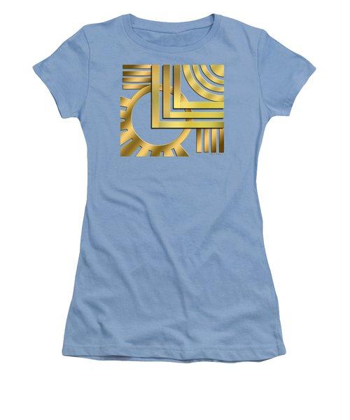 Women's T-Shirt (Junior Cut) featuring the digital art Art Deco 19 Transparent by Chuck Staley