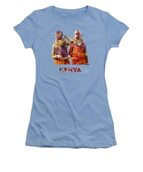 Young Turkana Girls Women's T-Shirt (Junior Cut) by Anthony Mwangi