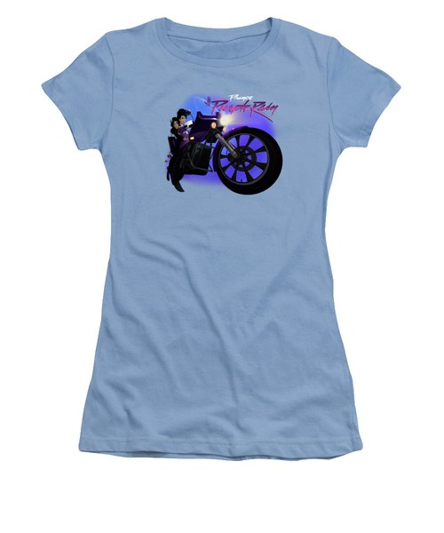 Women's T-Shirt (Junior Cut) featuring the digital art I Grew Up With Purplerain 2 by Nelson dedos Garcia