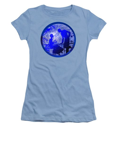 Blue Moonlight Lovers Women's T-Shirt (Athletic Fit)