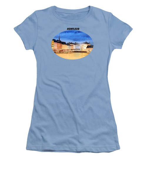 Honfleur  Evening Lights Women's T-Shirt (Junior Cut) by Bill Holkham