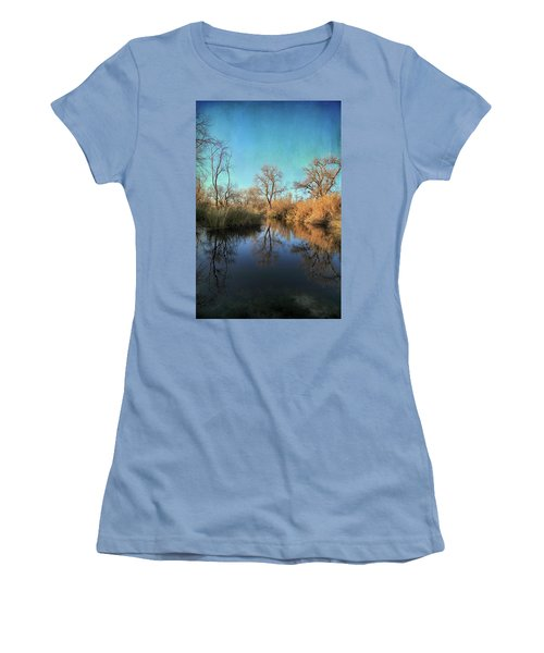Women's T-Shirt (Junior Cut) featuring the photograph As We Taked About The Year by Laurie Search