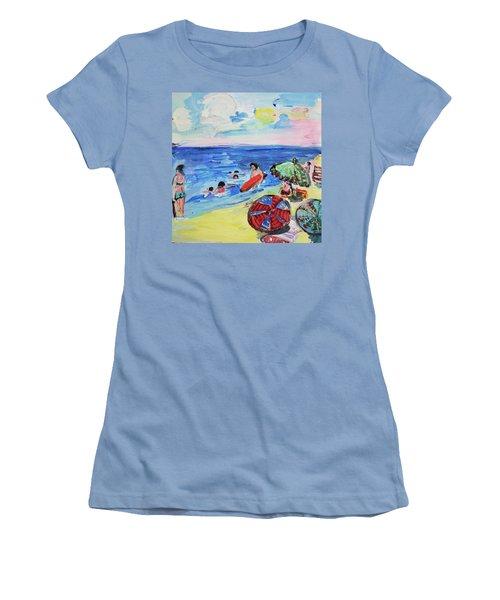 At The Beach Women's T-Shirt (Junior Cut) by Amara Dacer
