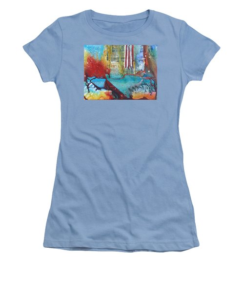 Atlantis Crashing Into The Sea Women's T-Shirt (Athletic Fit)
