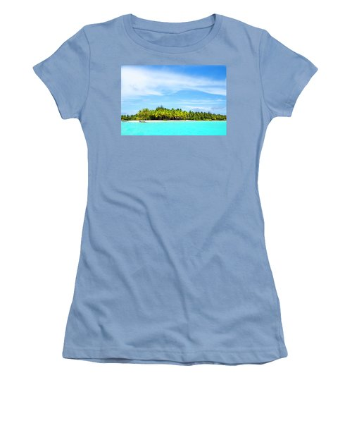 Atoll Women's T-Shirt (Junior Cut) by Sharon Jones