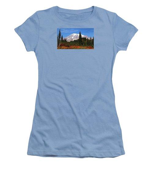 Women's T-Shirt (Junior Cut) featuring the photograph Autumn At Paradise by Lynn Hopwood