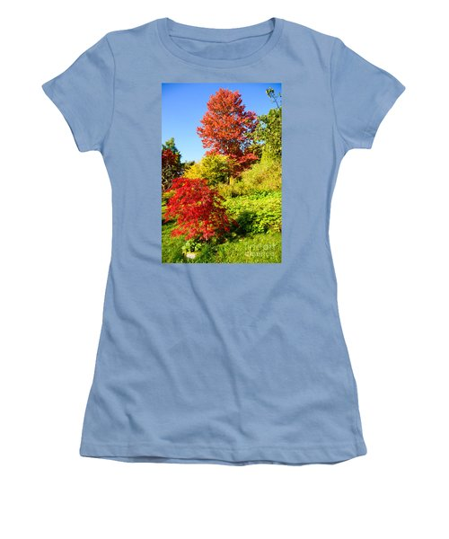 Women's T-Shirt (Junior Cut) featuring the photograph Autumn Colours by Colin Rayner