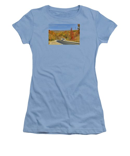 Women's T-Shirt (Junior Cut) featuring the photograph Autumn In The Hockley Valley by Gary Hall