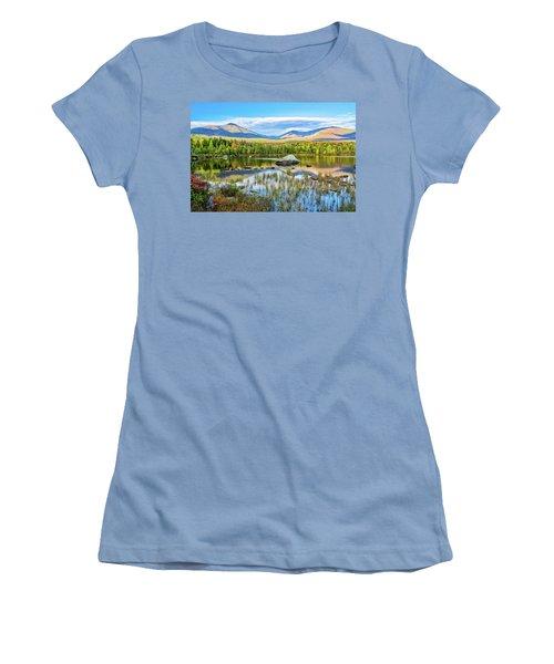 Autumn Mt.katahdin Baxter Sp Maine Women's T-Shirt (Athletic Fit)