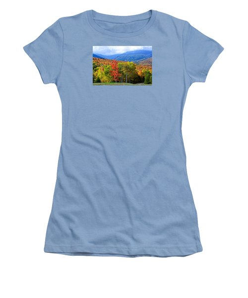 Autumn White Mountains Nh Women's T-Shirt (Junior Cut) by Michael Hubley