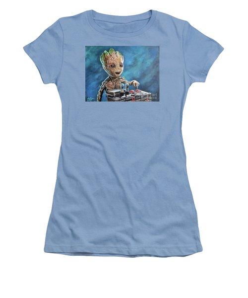 Baby Groot Women's T-Shirt (Junior Cut) by Tom Carlton