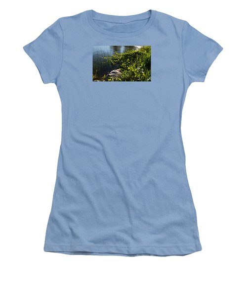 Backlight Plants By The Water  Women's T-Shirt (Junior Cut) by Lyle Crump