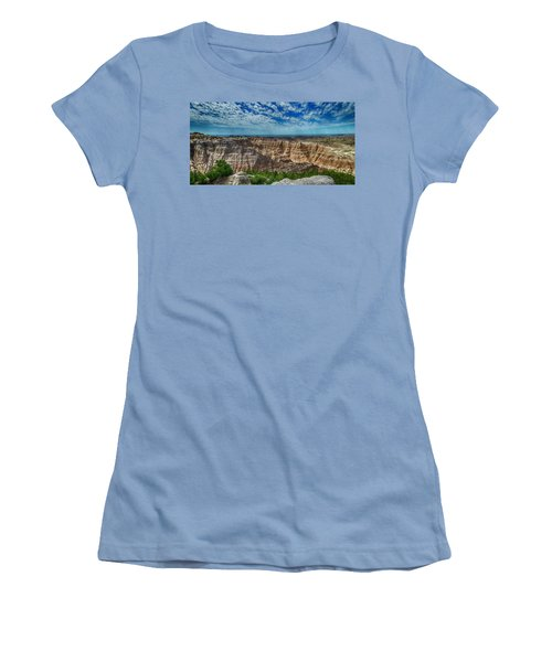 Badlands Landscape Women's T-Shirt (Athletic Fit)