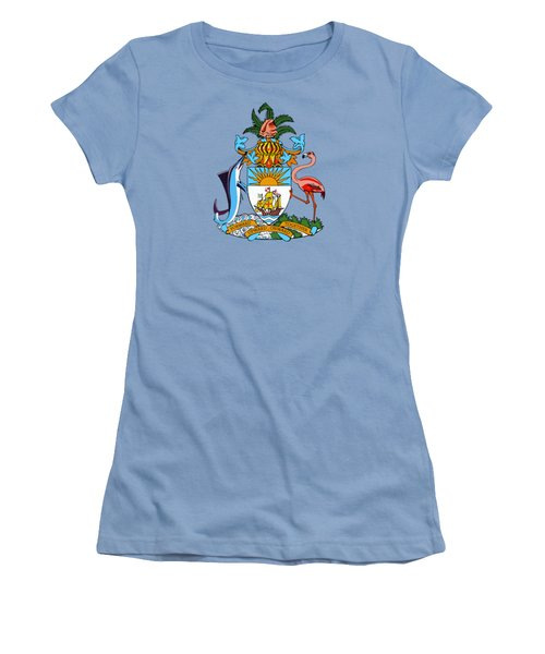 Bahamas Coat Of Arms Women's T-Shirt (Junior Cut) by Movie Poster Prints