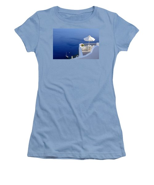 Balcony Over The Sea Women's T-Shirt (Athletic Fit)