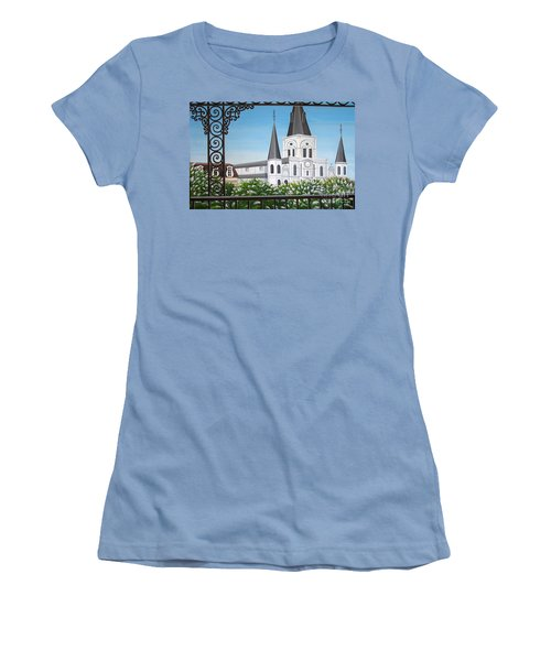 Balcony View Of St Louis Cathedral Women's T-Shirt (Athletic Fit)