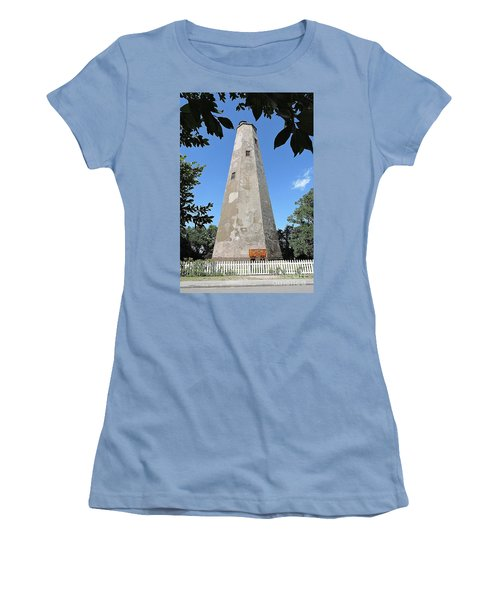 Bald Head Island Lighthouse Women's T-Shirt (Junior Cut) by Shelia Kempf