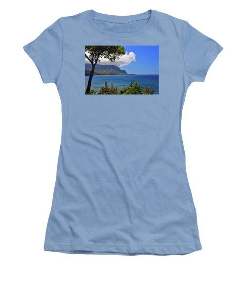 Bali Hai Hawaii Women's T-Shirt (Junior Cut) by Marie Hicks