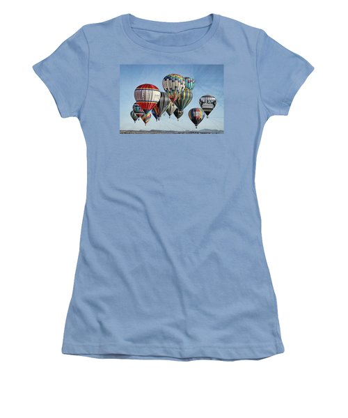 Women's T-Shirt (Junior Cut) featuring the photograph Ballooning by Marie Leslie