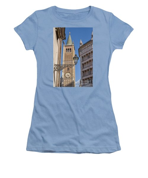 Baptistery And Cathedral In Parma Women's T-Shirt (Junior Cut) by Patricia Hofmeester