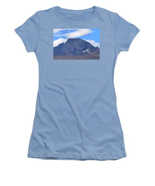 Women's T-Shirt (Junior Cut) featuring the photograph Barren Mountain Landscape Colorado by Dan Sproul