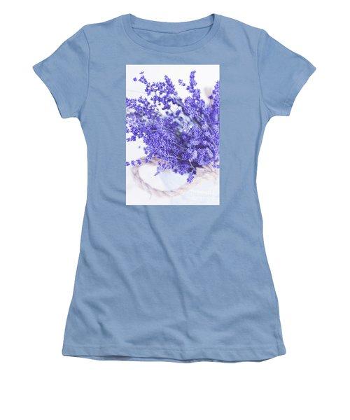 Basket Of Lavender Women's T-Shirt (Junior Cut) by Stephanie Frey
