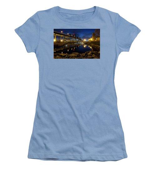 Battleship Cove, Fall River, Ma Women's T-Shirt (Junior Cut) by Betty Denise