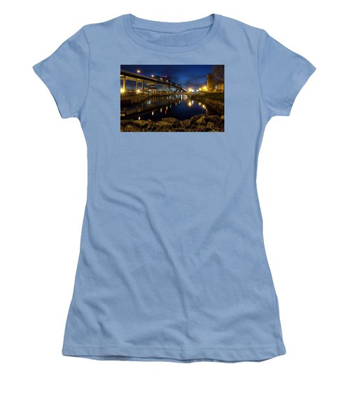 Battleship Cove, Fall River, Ma Women's T-Shirt (Athletic Fit)