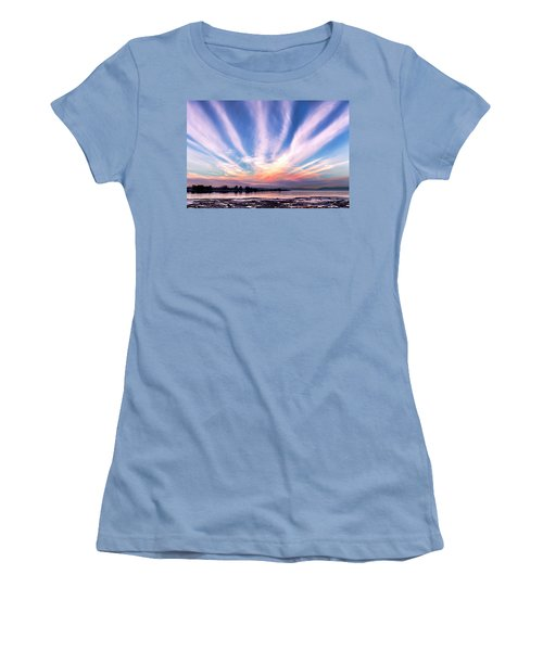 Bay Farm Island Sunrise Women's T-Shirt (Athletic Fit)