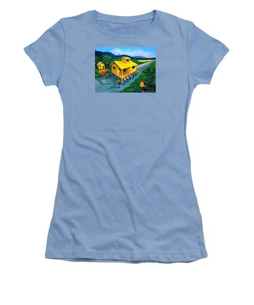 Bayanihan Women's T-Shirt (Junior Cut) by Cyril Maza