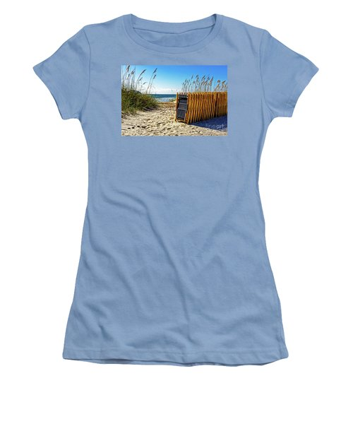 Beach Chairs Women's T-Shirt (Junior Cut) by Paul Mashburn