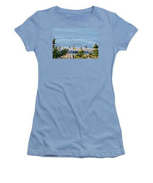Beach Fun At Cape Henlopen Women's T-Shirt (Athletic Fit)