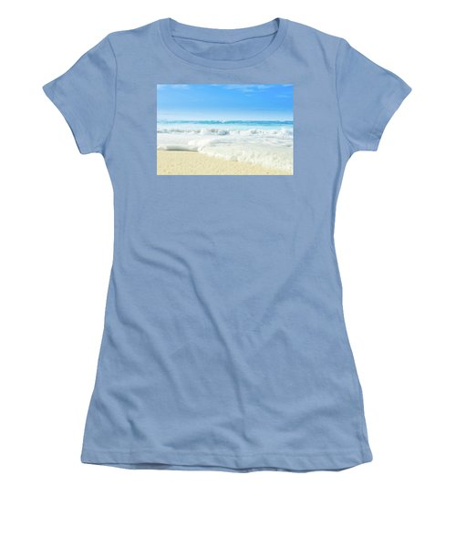 Women's T-Shirt (Athletic Fit) featuring the photograph Beach Love Summer Sanctuary by Sharon Mau