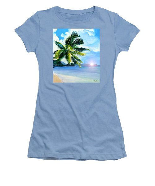 Beach Scene Women's T-Shirt (Athletic Fit)